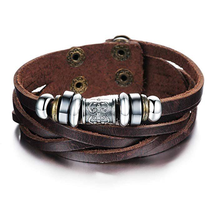pulseras colgantes estilo etnico para hombre